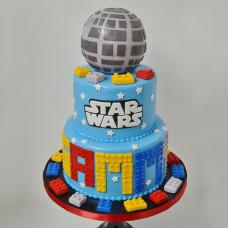 Трехъярусный торт Лего Star Wars