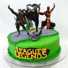 Торт с героями из игры Лига Легенд