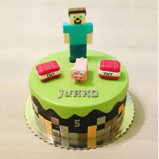 Торт из игры Майнкрафт