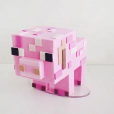 Торт свинья Майнкрафт