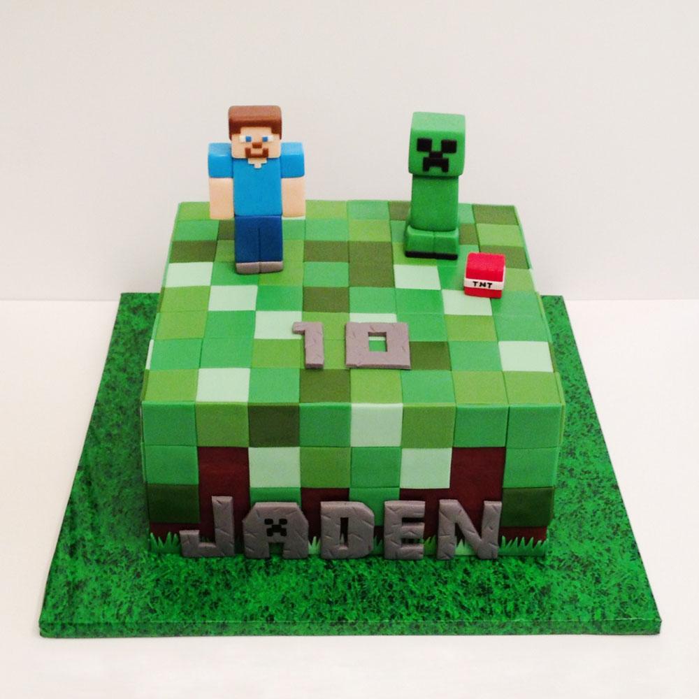 Торт в стиле Майнкрафт