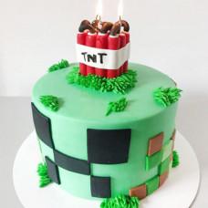 Торт Майнкрафт с динамитом