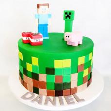 Торт для мальчика Майнкрафт