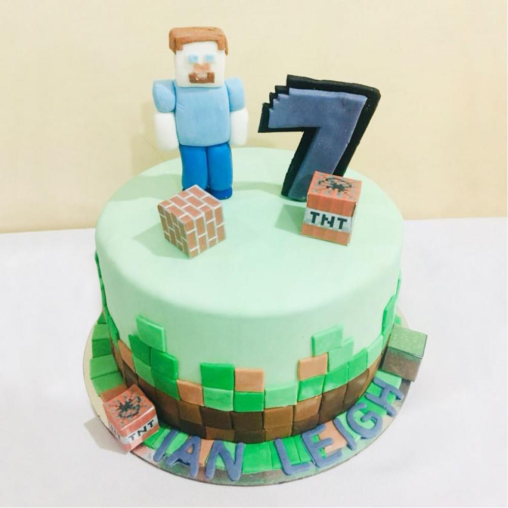 Торт на 7 лет мальчику Майнкрафт