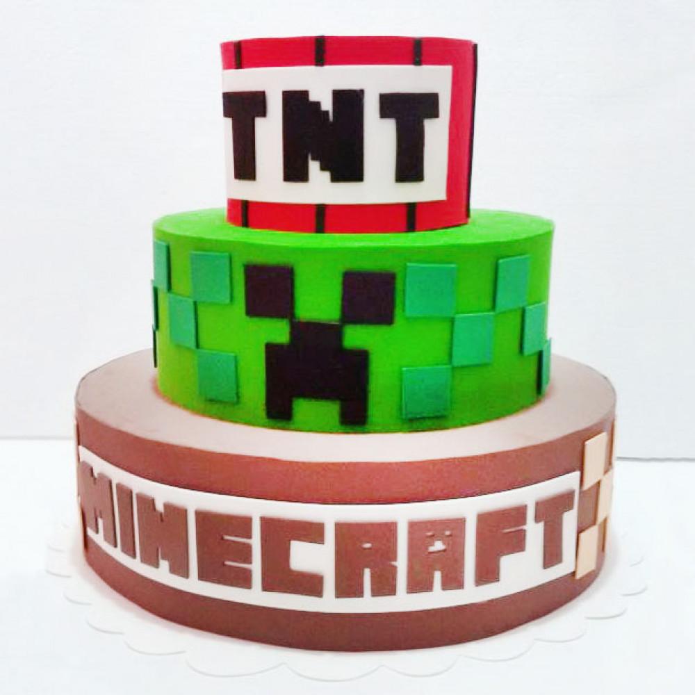 Торт Майнкрафт на 10 лет
