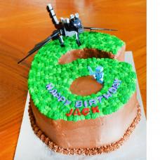 Торт цифра Майнкрафт