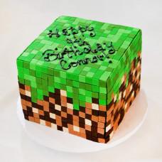 Торт блок Майнкрафт