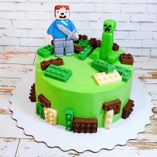 Красивый торт Майнкрафт