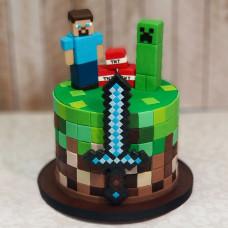 Торт Игра Майнкрафт