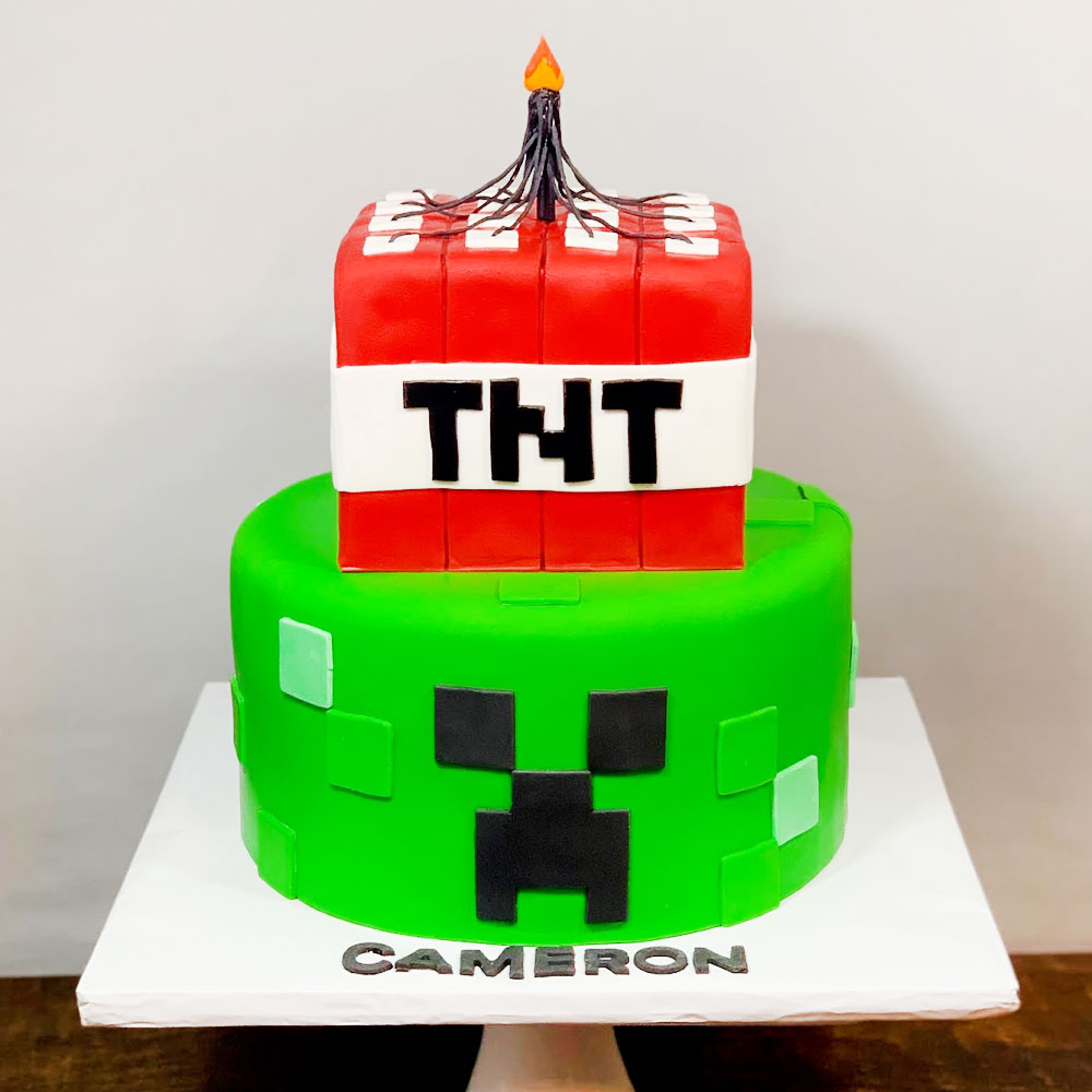 Торт мальчику на 10 лет Майнкрафт