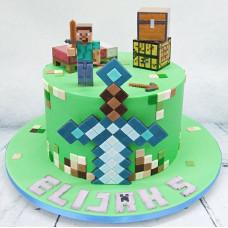 Торт Майнкрафт на 5 лет