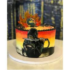Торт скорпион Мортал Комбат
