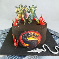 Торт со скорпионом из Мортал Комбат