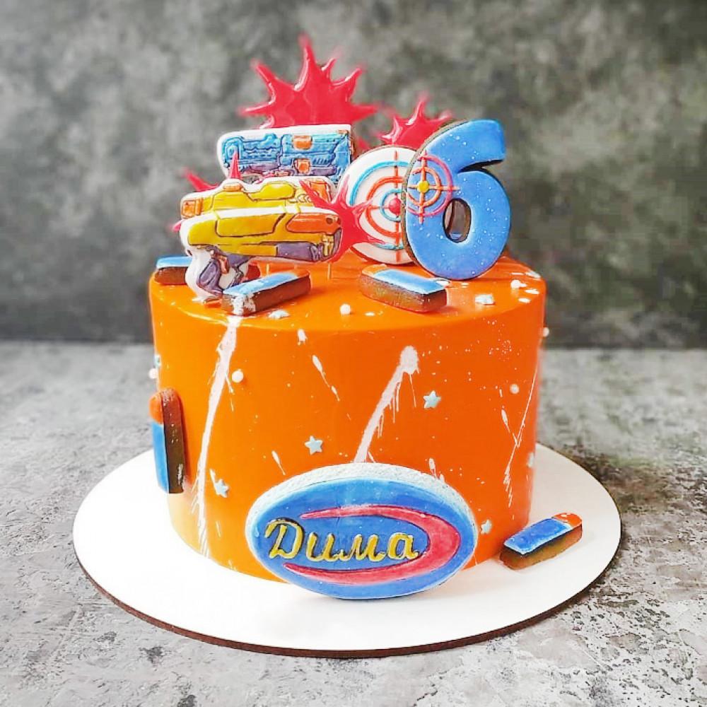 Торт мальчику в стиле Nerf
