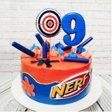 Торт Nerf на 9 лет