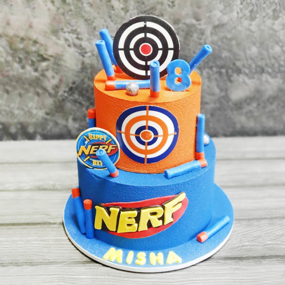 Торт Нерф на день рождения