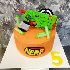 Торт с пистолетом Nerf
