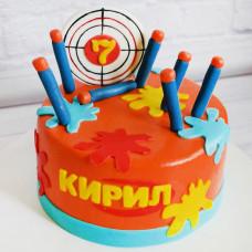 Торт мишень Нерф