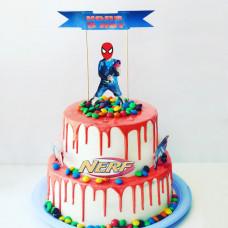 Двухъярусный торт Нерф