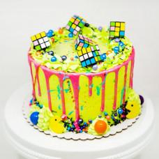 Торт Pac-Man и Кубик-Рубик