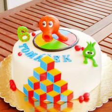 Торт в стиле игры Q-bert