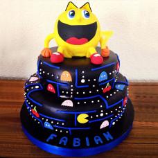 Двухъярусный торт с Пакманом