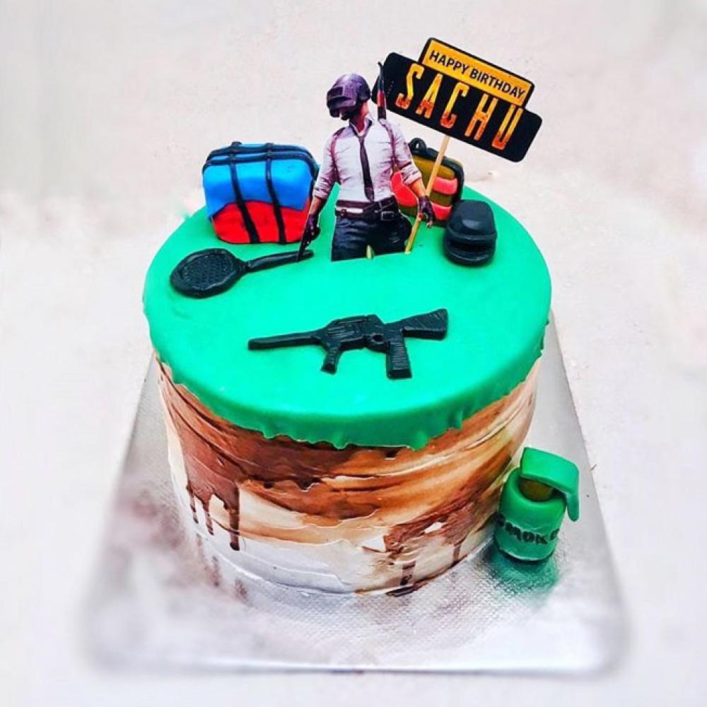 Торт на тему игры PUBG
