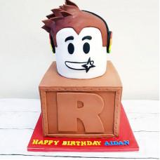 Торт Roblox на день рождения