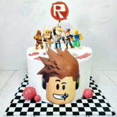 Торт Роблокс на 8 лет