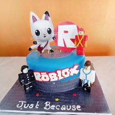 Торт с игрой Роблокс