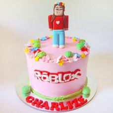 Торт Роблокс на день рождения для девочки