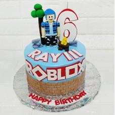 Торт на тему Роблокс
