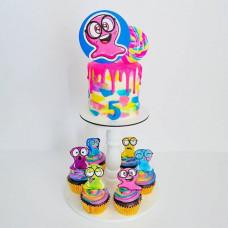 Торт и капкейки Слайм