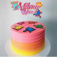 Детский торт омбре Слайм