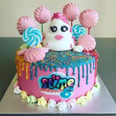 Торт Слайм для девочек