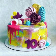 Торт Слайм на 10 лет