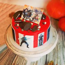 Торт с героями из фильма Ведьмак