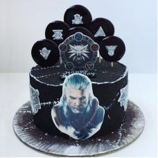 Торт Ведьмак для мальчика