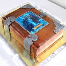 Торт в виде книги Warcraft