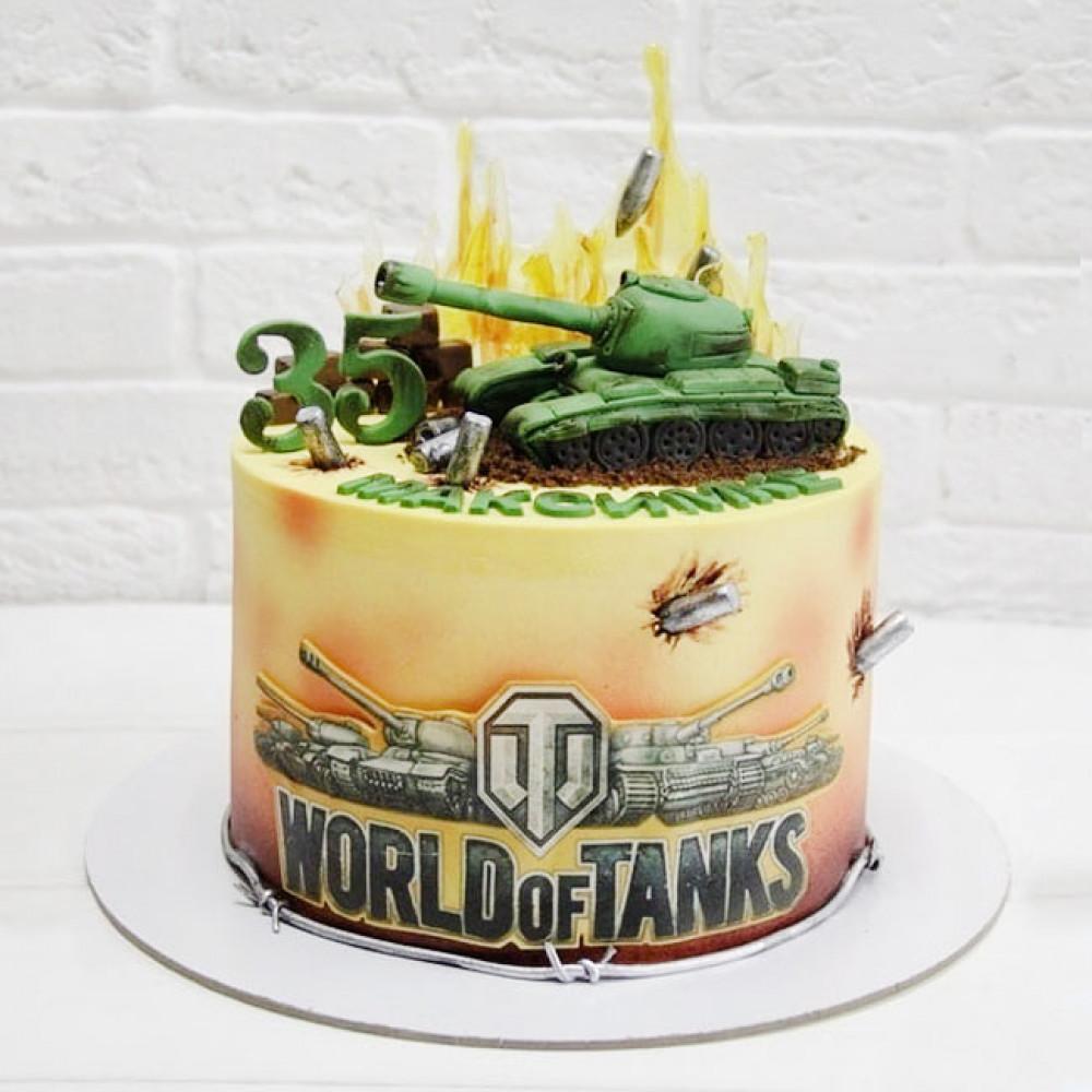 Торт WOT на юбилей
