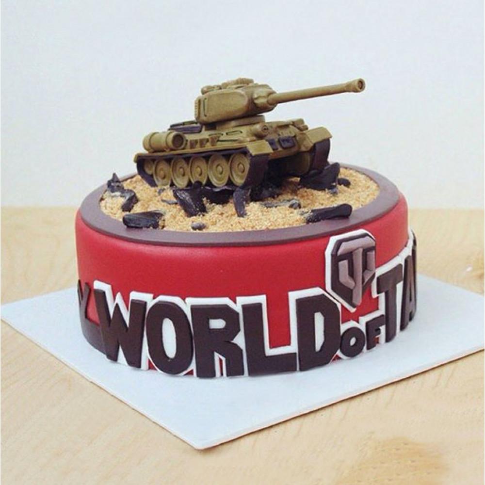 Торт Мир танков