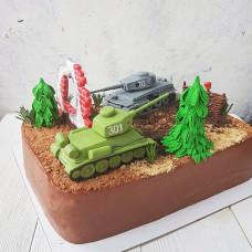 Торт с танками Tiger 712 и TH-301