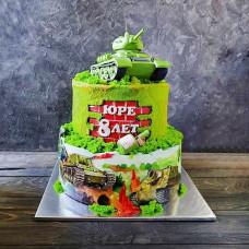 Двухъярусный торт WOT