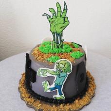 Торт с рукой зомби
