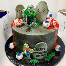 Торт с Зомби на Хэллоуин