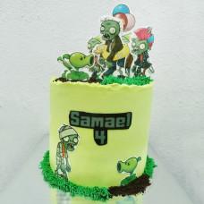 Торт по игре Зомби против растений