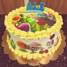 Кремовый торт Зомби против растений