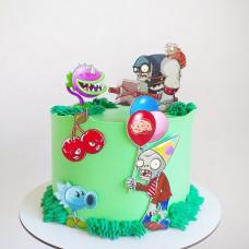 Торт Зомби против растений для мальчика