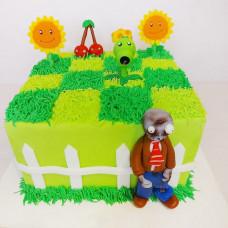 Торт Зомби против растений на день рождения