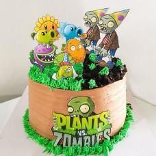 Торт Зомби против растений без мастики